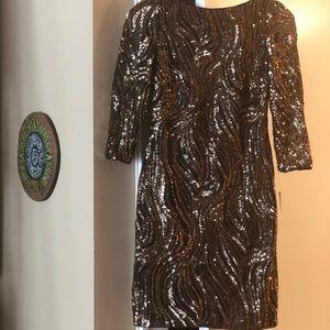 Aidan Mattox sequinned cocktail dress